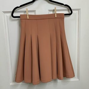 Peach Pleated Skater Skirt
